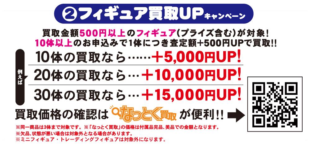 ②フィギュア買取UPキャンペーン