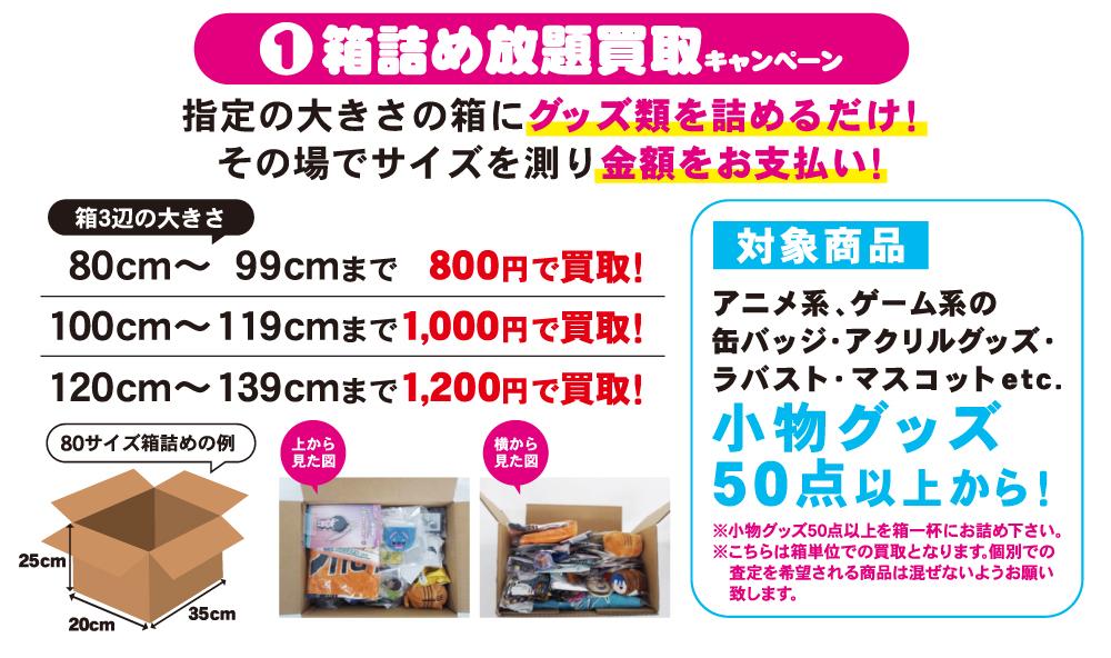 ①箱詰め放題買取キャンペーン