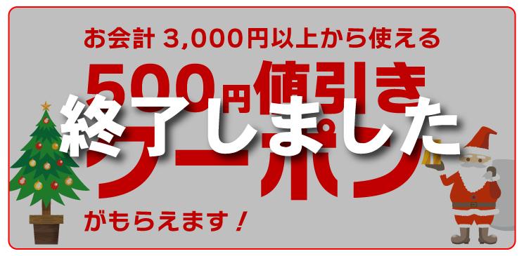 500円引きクーポンプレゼント!